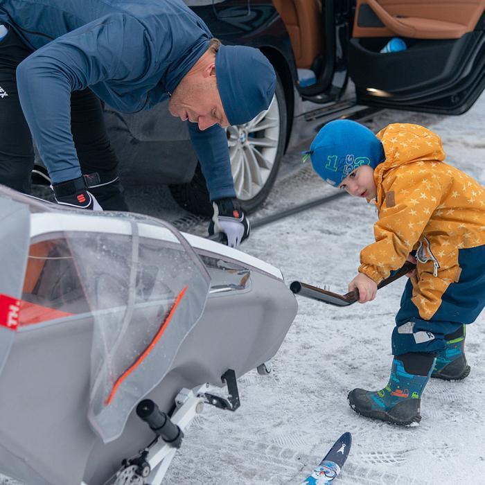 Kid Racer Twin med løpesett og skisett